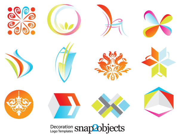 Free Decoration Logo Template Vector Icons Logo Design Free Templates Free Logo Templates Logo Design Free