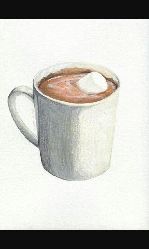 Drawing Of Hot Cocoa Hot Chocolate Art Hot Chocolate Drawing
