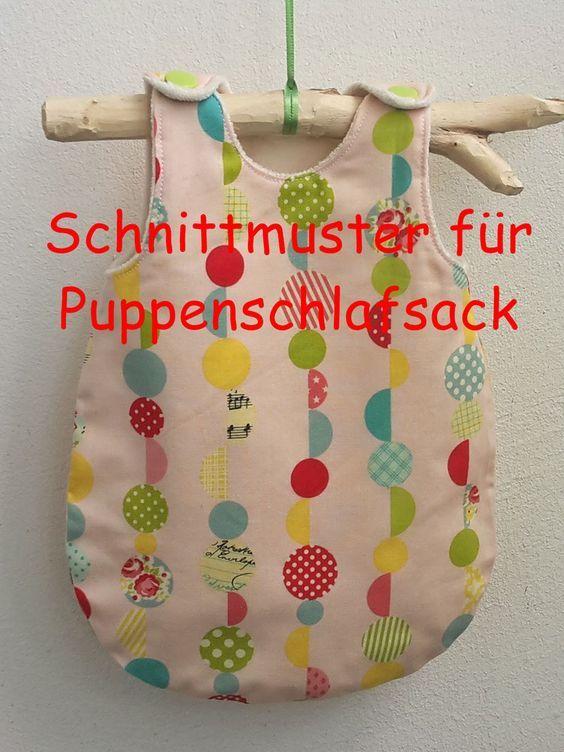 Schnittmuster für einen Puppenschlafsack #clothpatterns