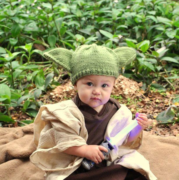 Gorro tejido de Yoda para bebés  63cb30aec62