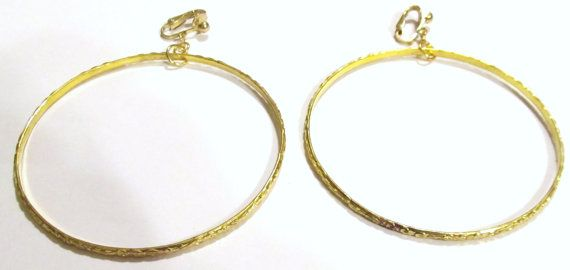 Handcrafted  Gold Plated  Clip On Earrings   Swirl Design by ADKOR, $10.00