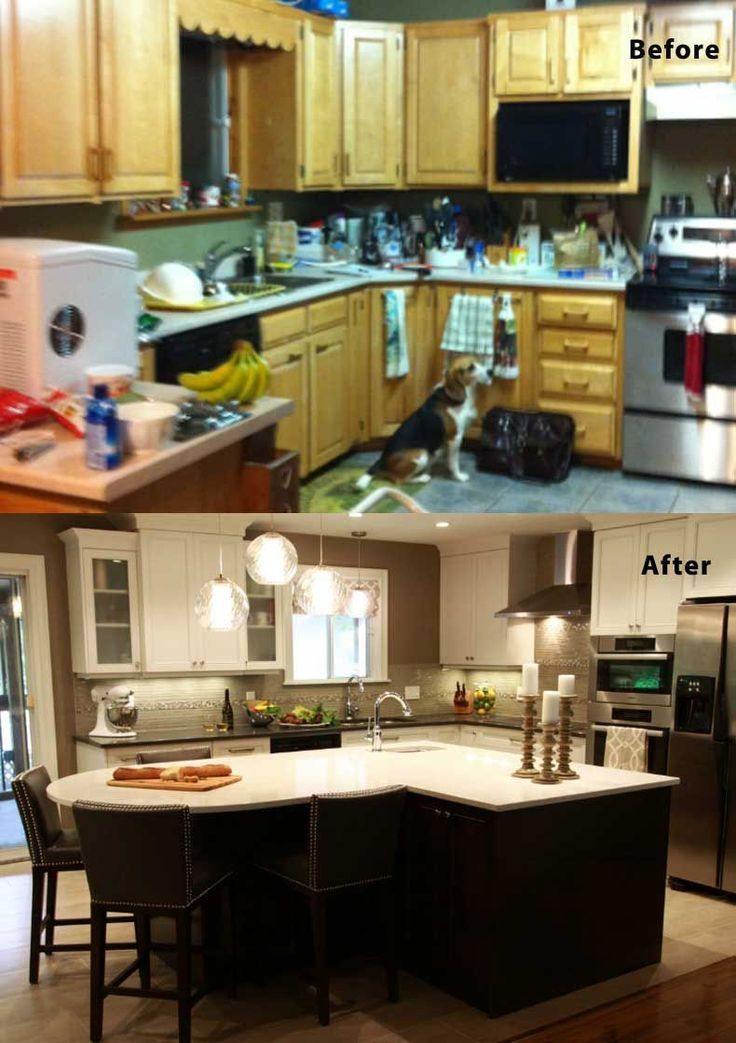 1960s Kitchen Remodel Before After: 75 Kitchen Design And Remodelling Ideas (Before And After