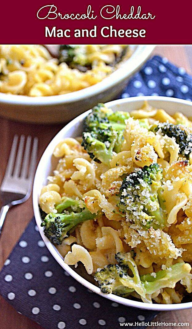 Treat yourself to this amazing Broccoli Cheddar Mac and Cheese tonight! It's simple to make and so d...
