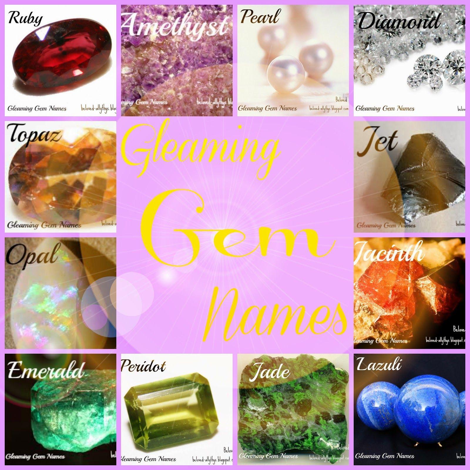 Gleaming Gem Names | Beloved | Pinterest | Gems and Girls