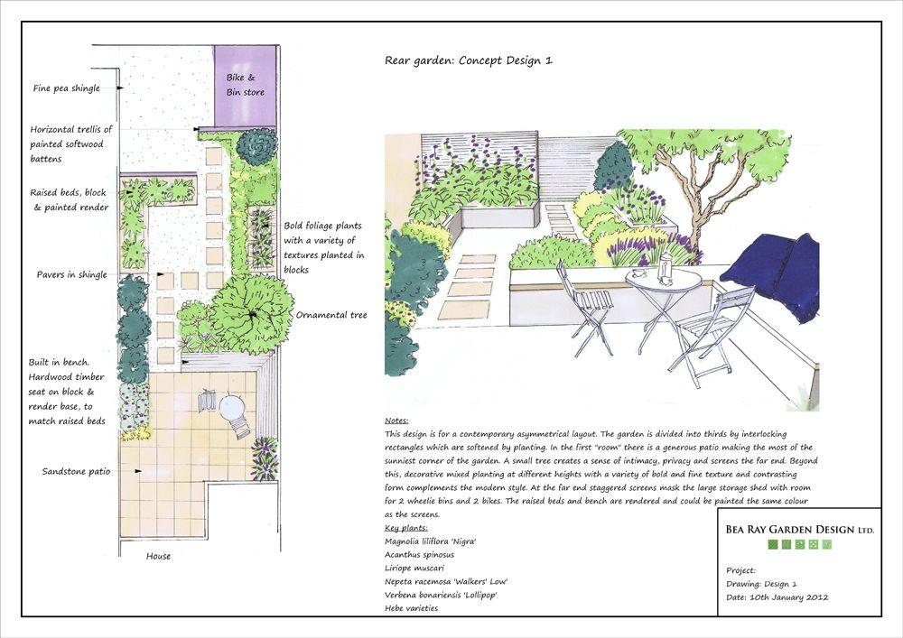 Small Stylish Town Garden Bea Ray Garden Design Ltd – Planning A Small Garden