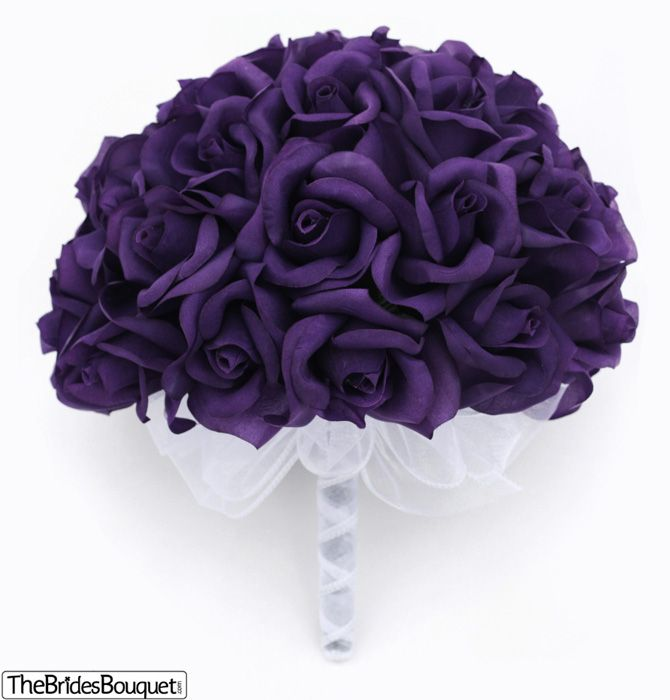 36 purple roses silk flower bridal bouquet wedding toss 36 purple roses silk flower bridal bouquet wedding toss bridesmaid bouquet 3 dozen artificial flowers mightylinksfo