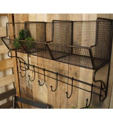 Three Bin Shelf With Hooks Rodworks Pool Towel Storage Pool Towels Shelves