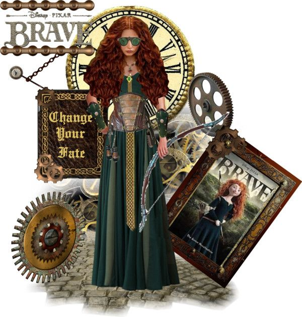 """Steampunk Merida"" by alyssastar ❤ liked on Polyvore"