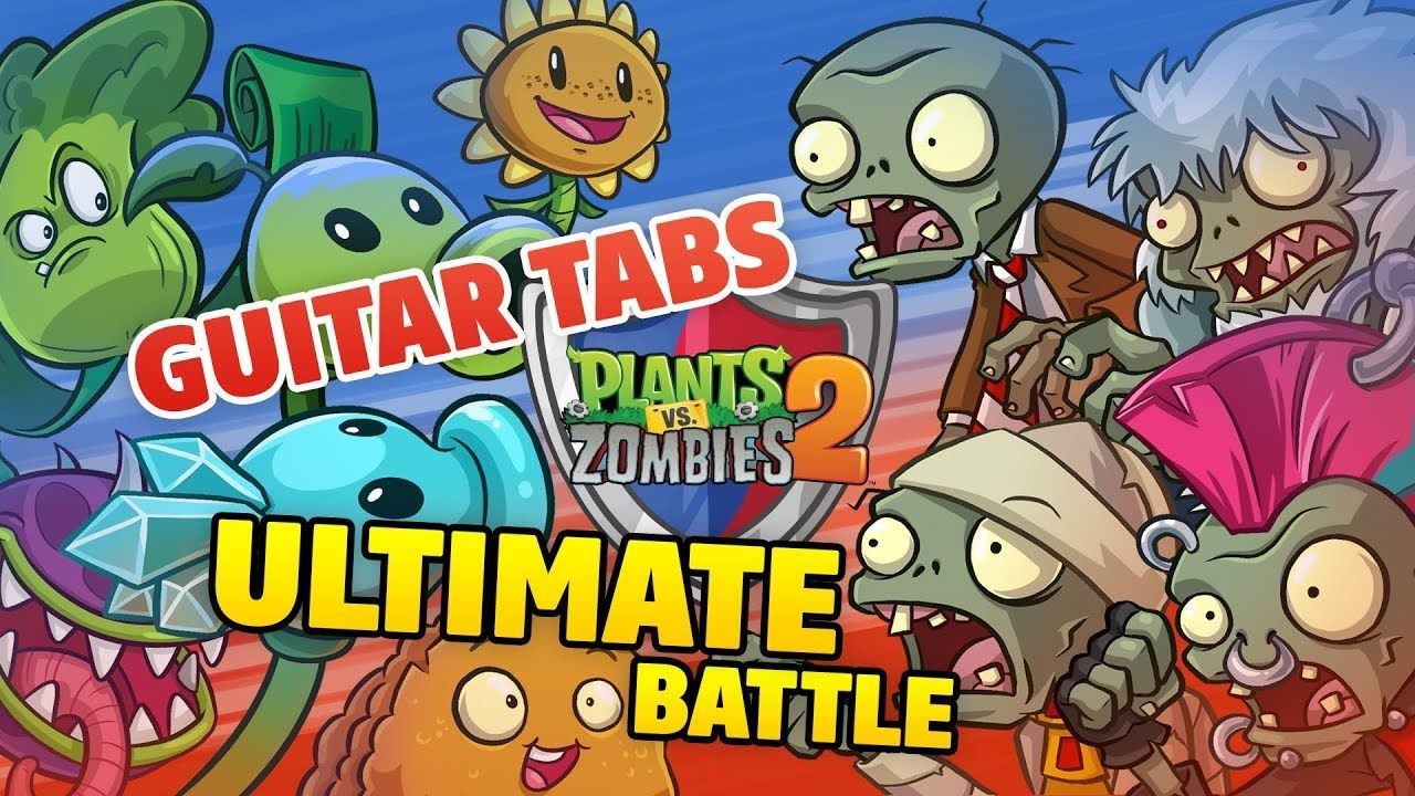 Plants Vs Zombies 2 Theme Song Guitar Cover Tabs And Midi
