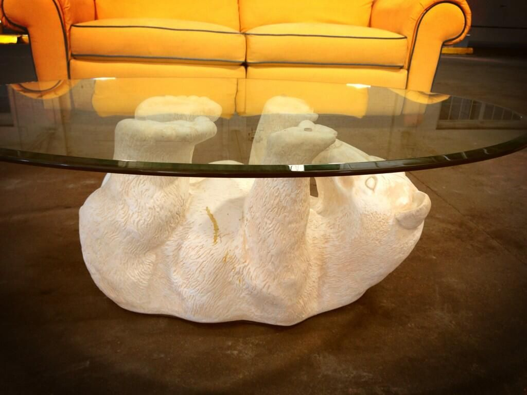 Glass Table Top Coffeetable Polarbear Glass Top Table Table Coffee Table [ 768 x 1024 Pixel ]