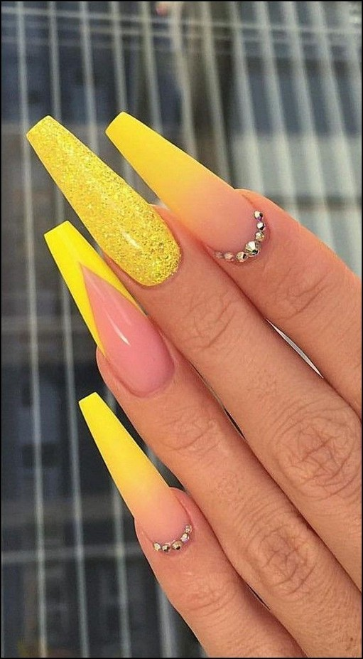43 Neon Nail Designs That Are Perfect For Summer 17 Elroystores Com Best Acrylic Nails Neon Nail Designs Yellow Nails Design