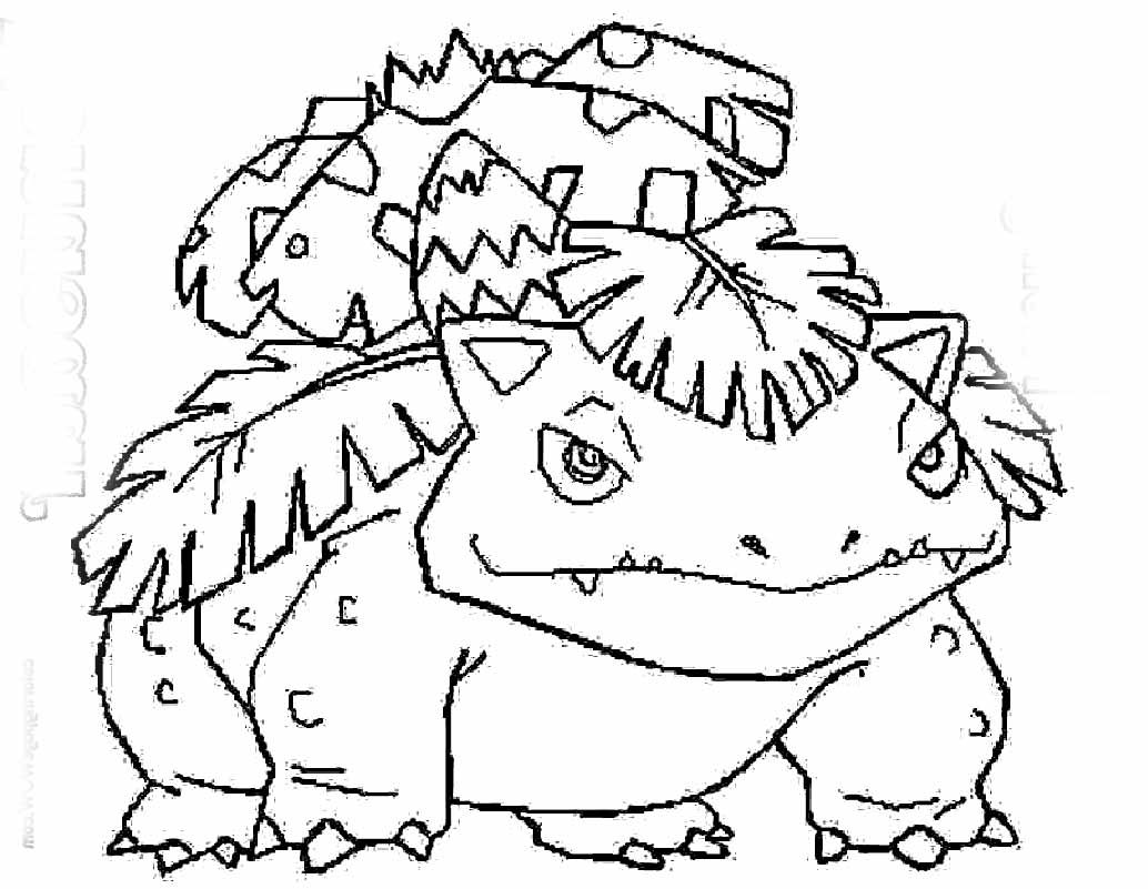 Pokemon coloring pages ivysaur - Pokemon Fushigibana Coloring Page