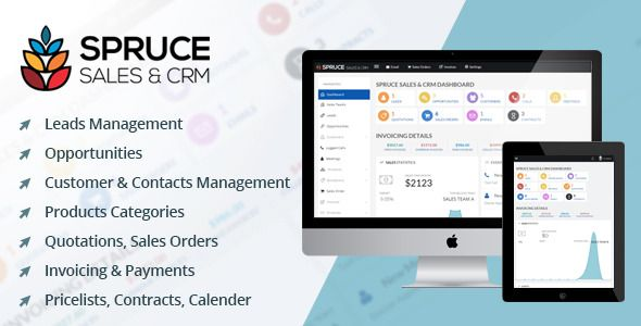 Spruce Sales  Crm  Spruce Sales  Crm Is A Fully Functional Crm