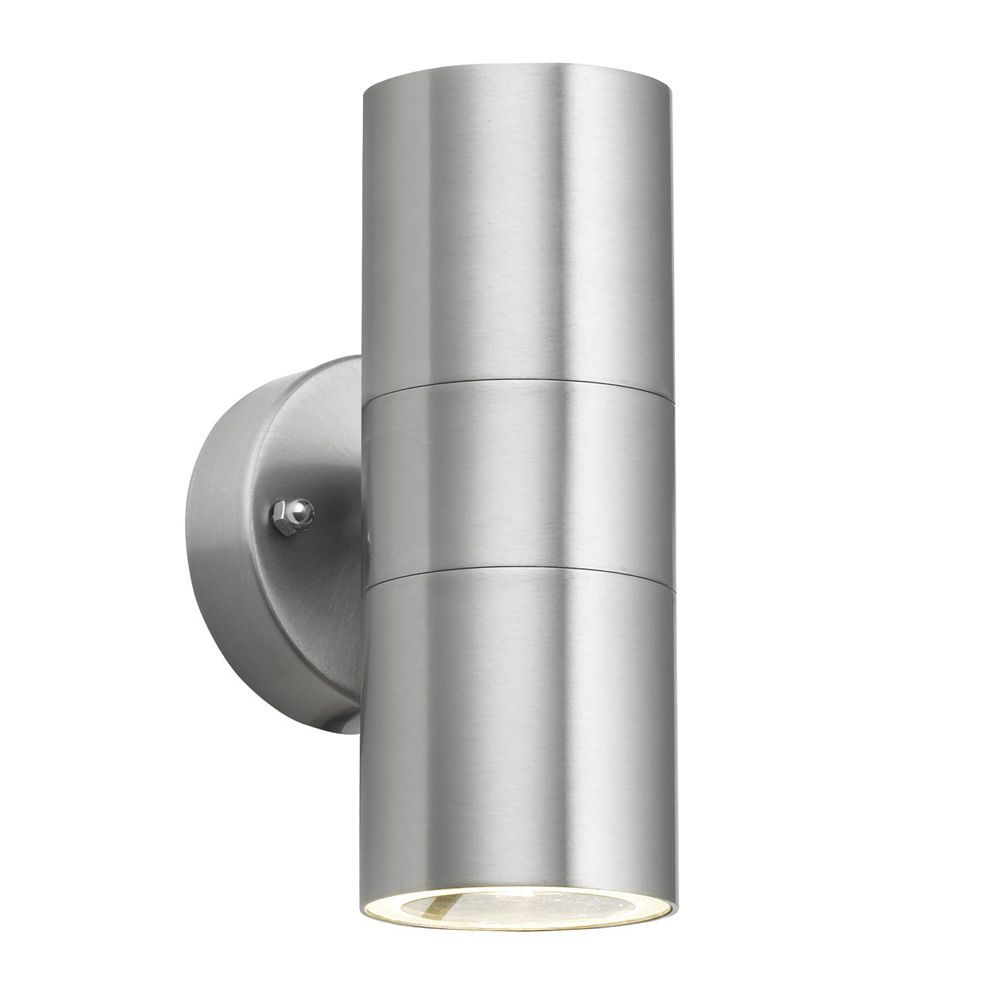Minisun Ip44 Modern Chrome Stainless Steel Outside Garden Up Down Wall Light Lantern For Sale Online Ebay Outdoor Sconces Wall Lights Outdoor Lighting