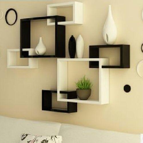 Black And White Wall Shelves Ideias De Decoracao Decoracao De