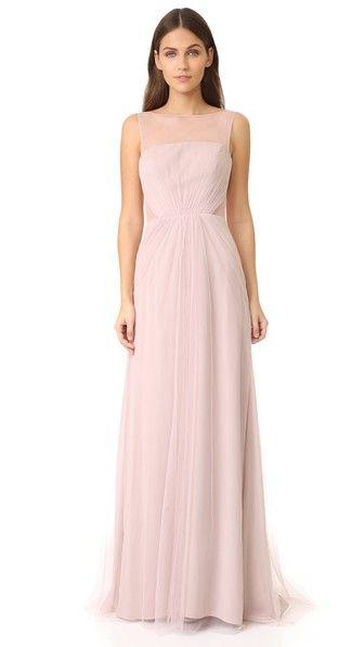 700e7fcddae MONIQUE LHUILLIER BRIDESMAIDS TULLE ILLUSIONS CUT OUT GOWN.   moniquelhuillierbridesmaids  cloth