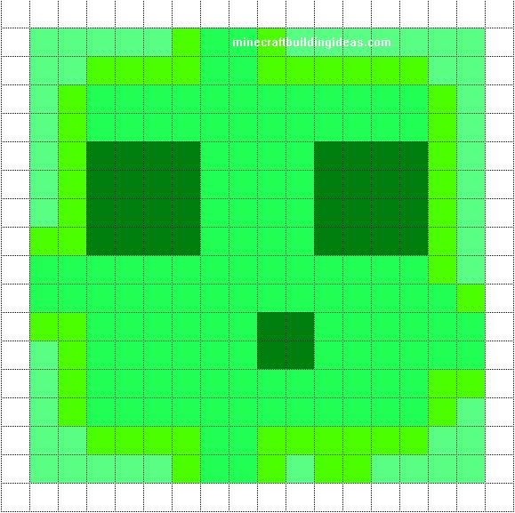 Slime Pixel Art Minecraft Pixel Art Pixel Art Templates