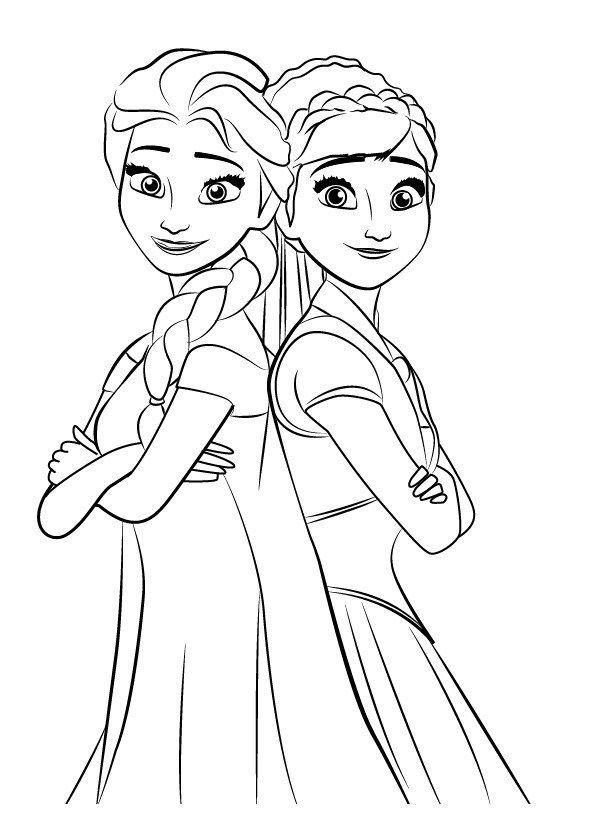 Frozen Untuk Mewarnai : frozen, untuk, mewarnai, Mewarnai, Gambar, Kartun,, Warna,