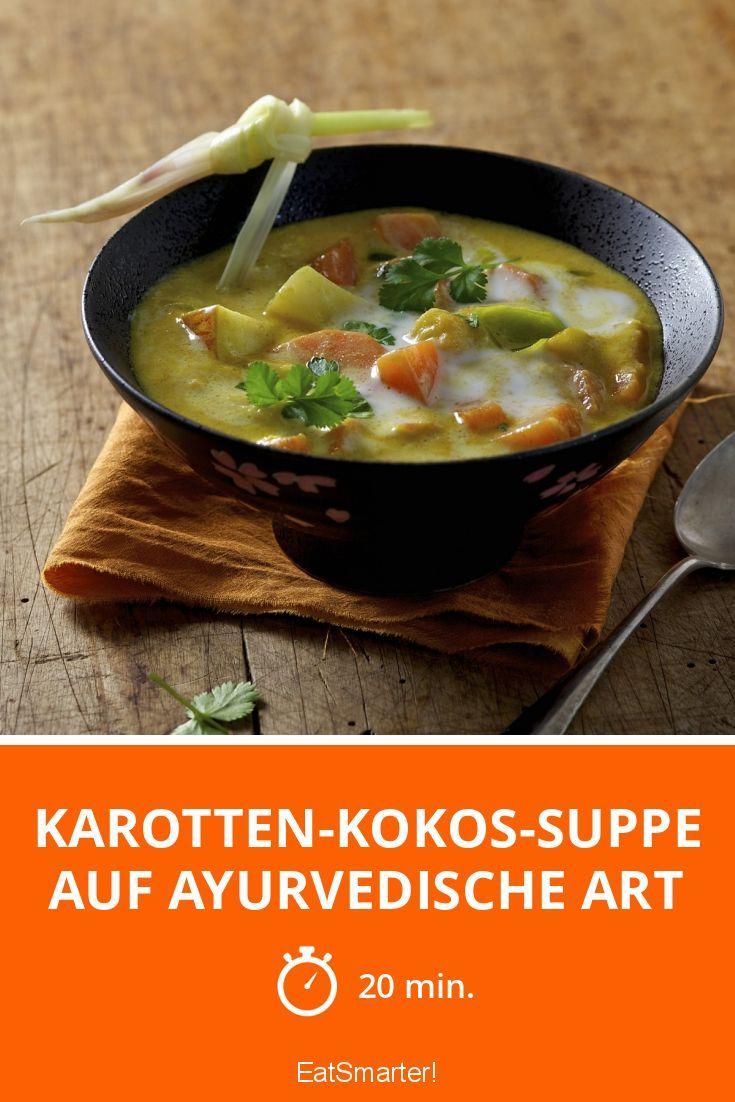 Karotten-Kokos-Suppe auf ayurvedische Art | Rezept | Karotten, 20er ...