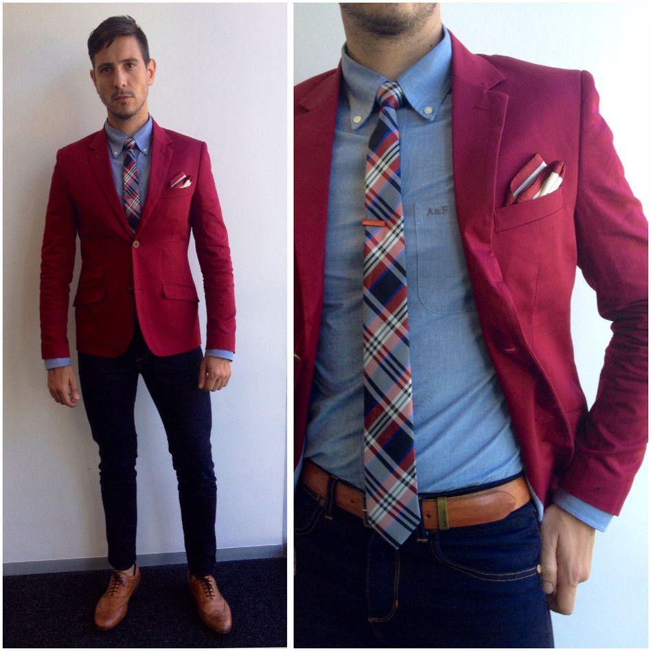 Burgundy Blazer With Grey Pants Google Search Blazer