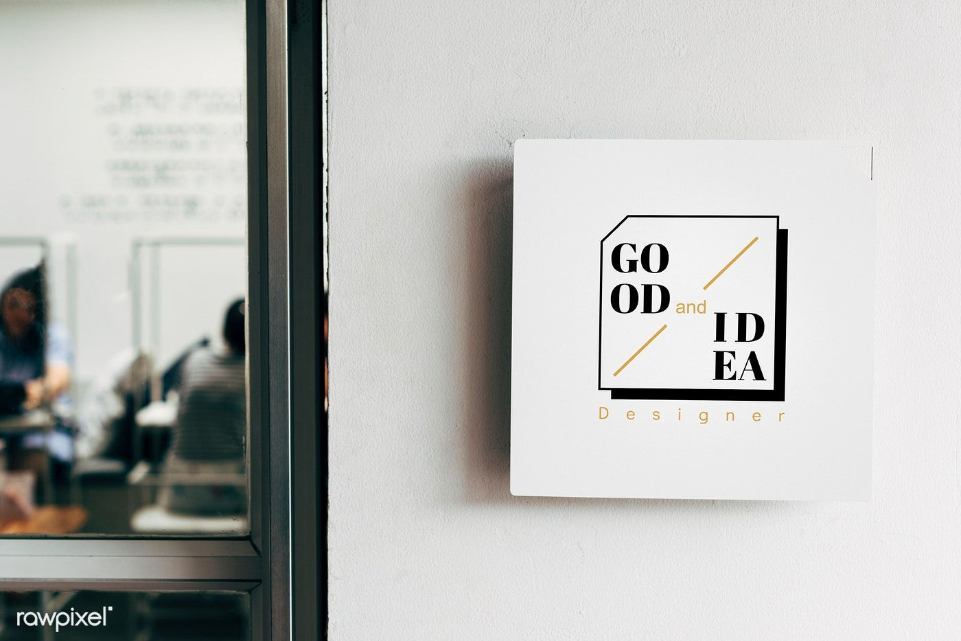 Mockup Of Wall Sign Boards Free Image By Rawpixel Com Sign Mockup Wall Signs Design Mockup Free