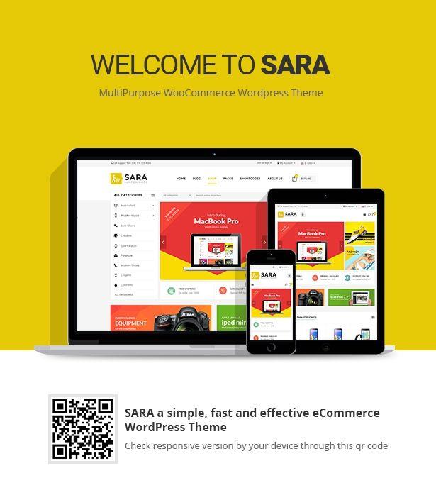 Sara - WooCommerce WordPress Market Theme | Pinterest