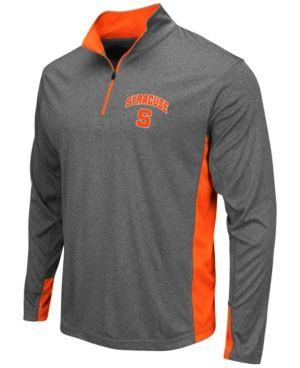 5d0d5e23 Colosseum Men's Syracuse Orange Ridge Runner Quarter-Zip Pullover - Gray M