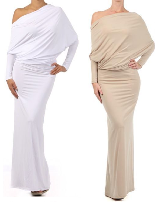 OOH LA LA WHITES CONVERTIBLE MULTI WAY Maxi Dress (With