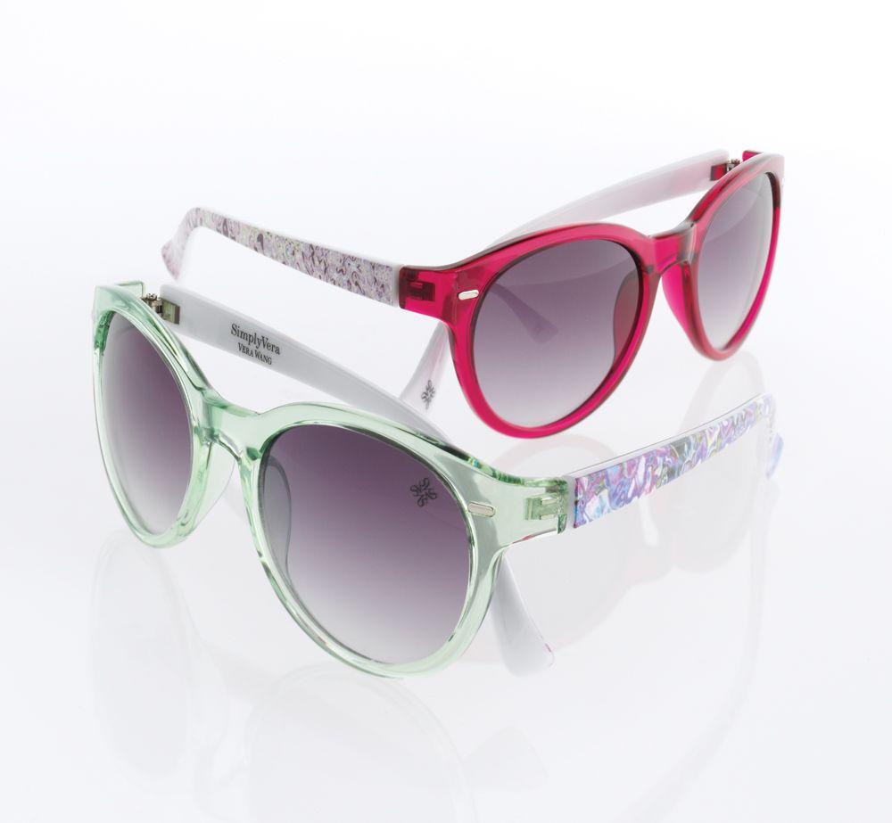 5fa2587642 Simply Vera Vera Wang sunglasses add a pop of color.  Kohls