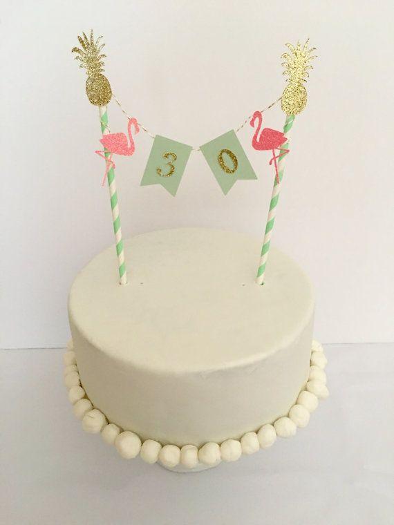 Lets Flamingle 30th Birthday Cake Topper Thirty Birthday