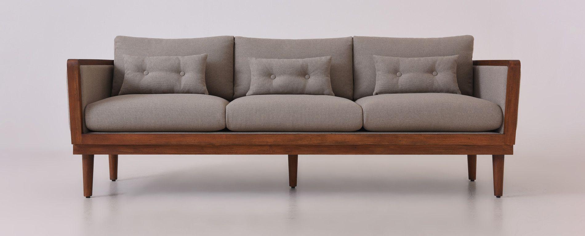 Bosley Sofa W Wrap Around Frame Wooden Sixpenny