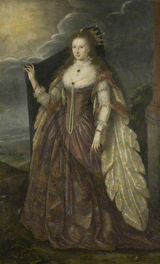 Portrait of an Unknown Lady by British School      Date painted: c.1615     Oil on canvas, 205.6 x 124.4 cm     Collection: Bristol Museums, Galleries & Archives