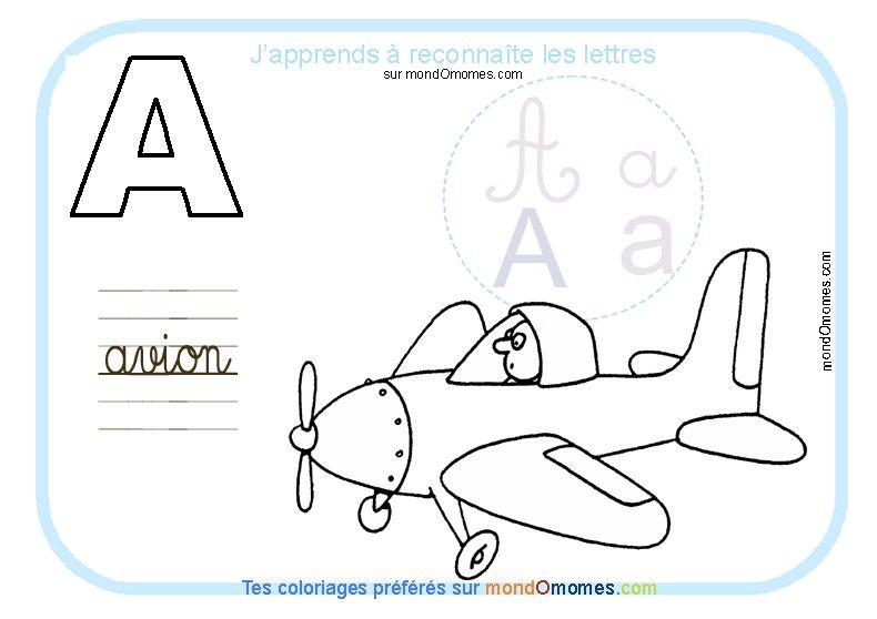 Coloriage Lettres Alphabet Maternelle.Coloriage Alphabet Lettre A Apprentissage Alphabet Et French Lessons