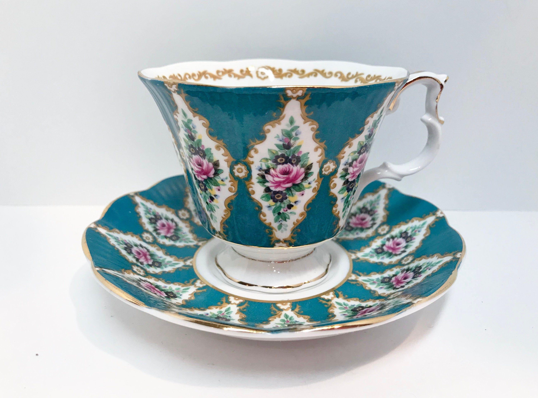 Royal Albert Tea Cup and Saucer,Kenilworth Pattern, Royal Series, Antique Teacups Vintage, Floral Tea Cups Vintage, Teatime, Afternoon Tea #teacups