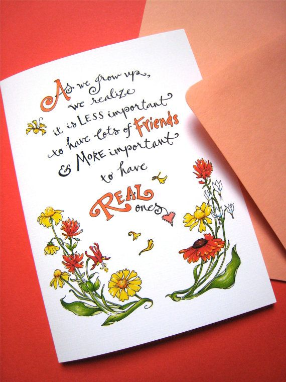 Friendship Card Best Friend Friends Quote By PattieJansen 450