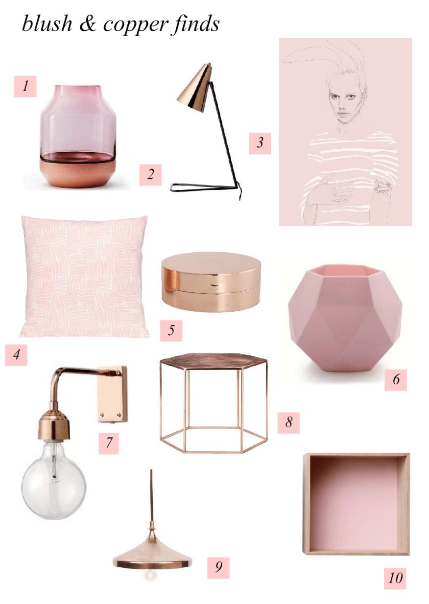 Colour Combo // Blush and Copper Mood Board Copper