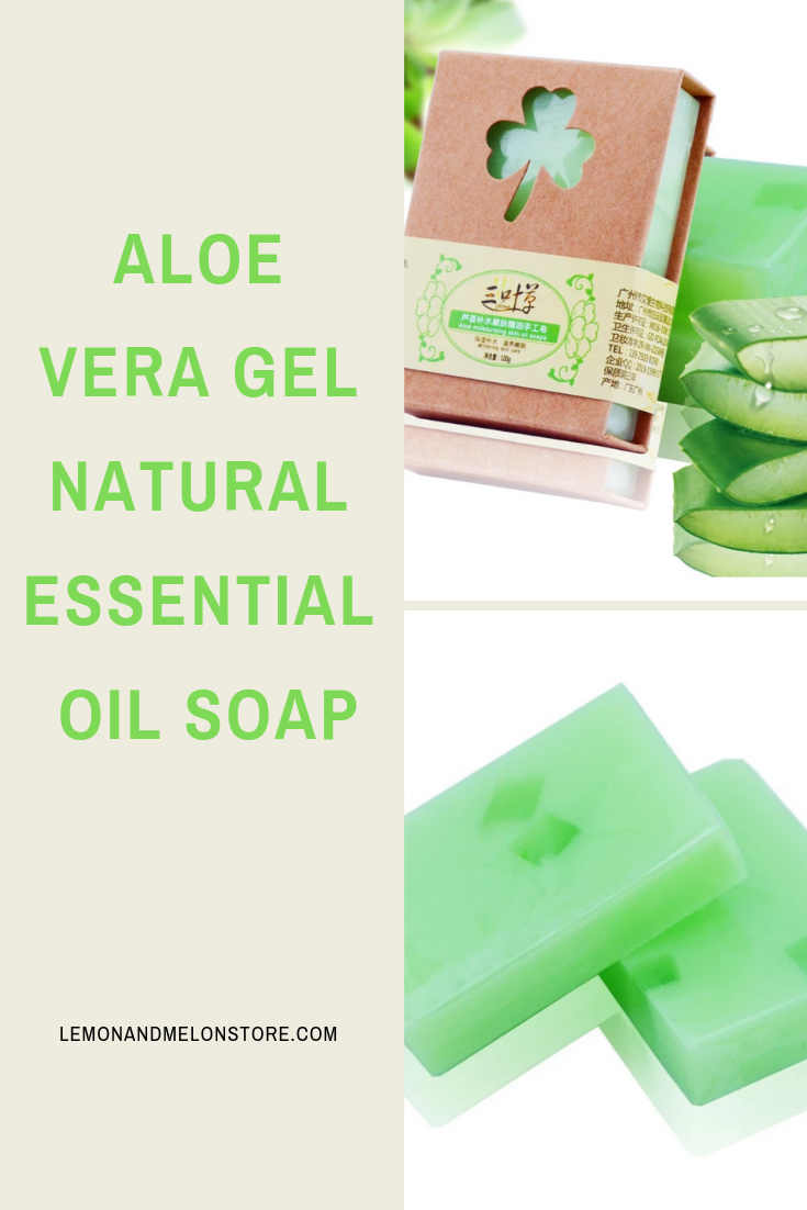 Aloe Vera Gel Natural Essential Oil Soap #organicmakeup