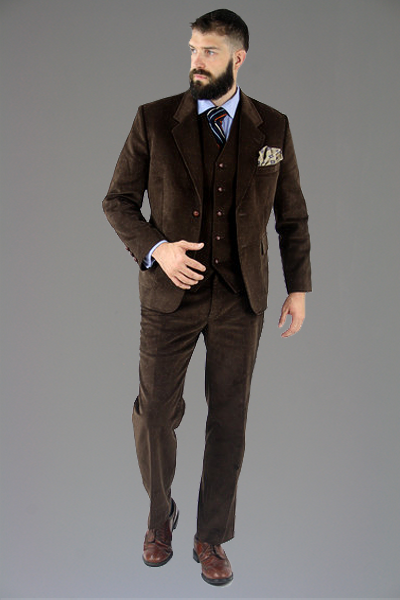Custom Mod Handmade Brown Vintage Style 3 Piece Suit 42 R | Monkey Suit Vintage