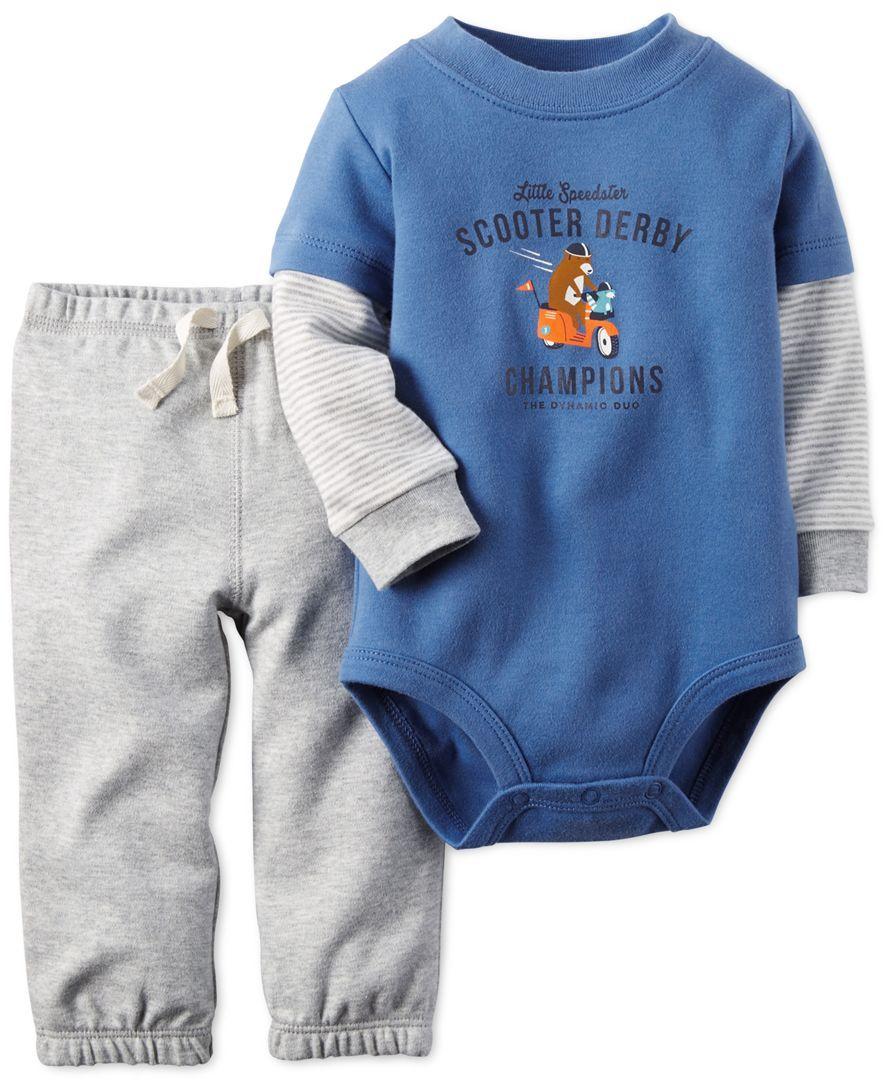 Carter\'s Baby Boys\' 2-Piece Scooter Bodysuit & Pants Set | Clothing ...