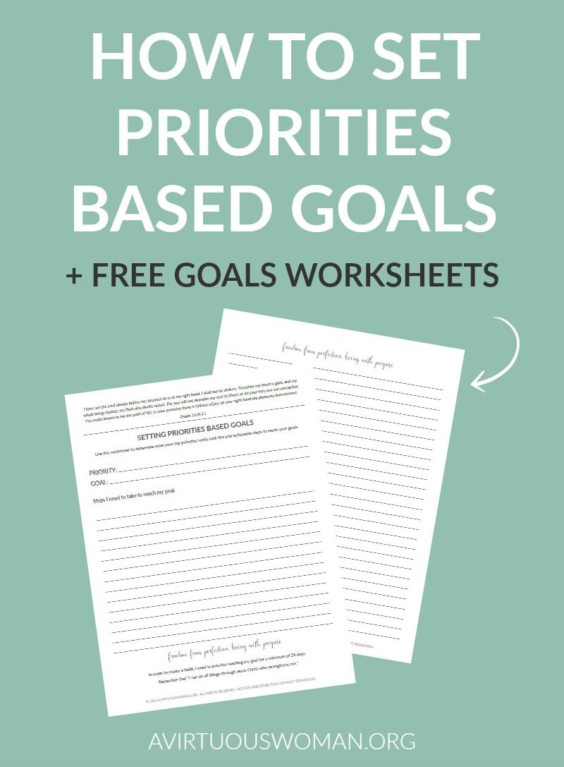 Planning 101: Setting Priorities Based Goals | Get Organized ...