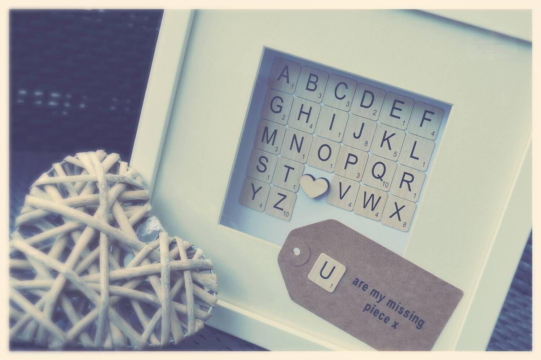 Scrabble word frame Srabble tile box Srabble framed