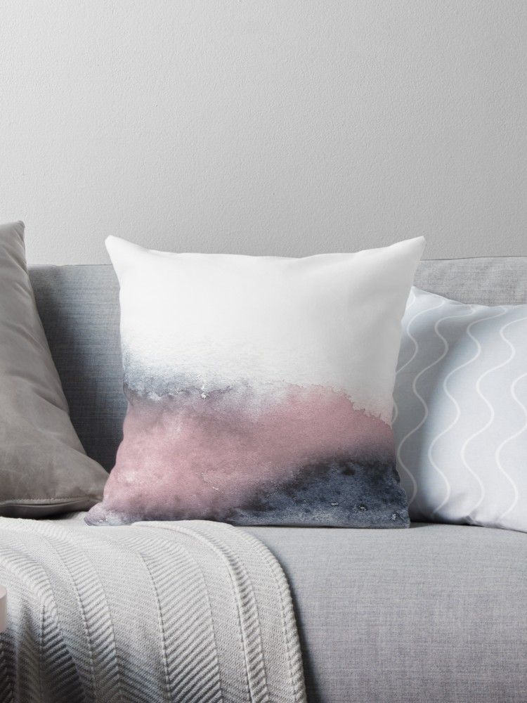 Dusty Pink' Throw Pillow by