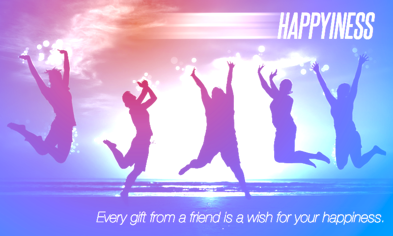 """""""Every gift from a friend is a wish for your happiness."""" Richard Bach #author #quote #Happiness"""
