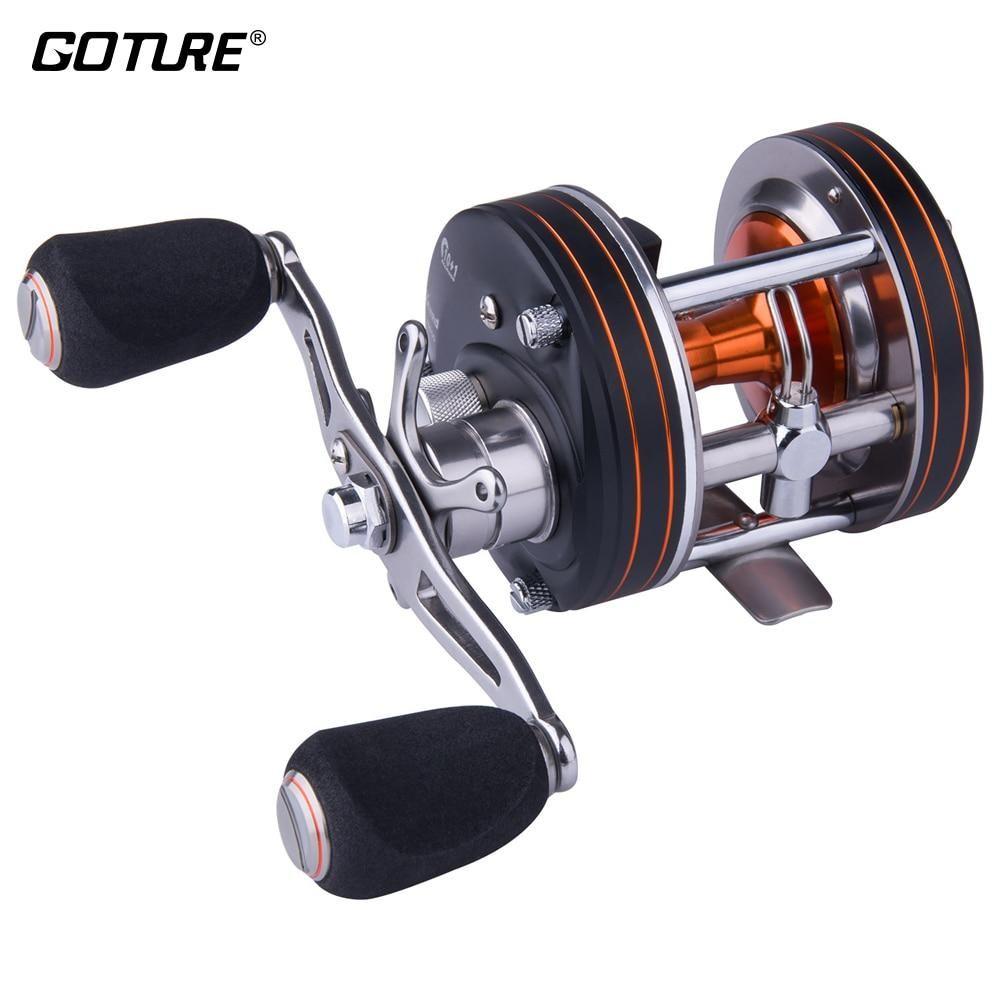 Goture xceed round baitcasting fishing reel 10 1bb