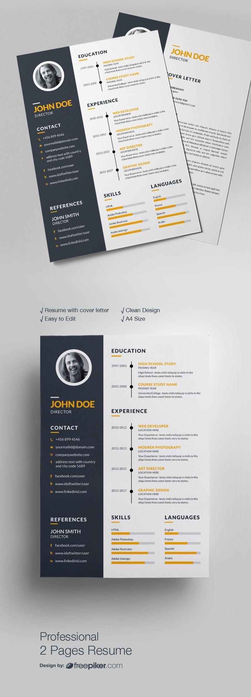Simple Resume Design | Resumes | Pinterest | Simple resume, Logo psd ...