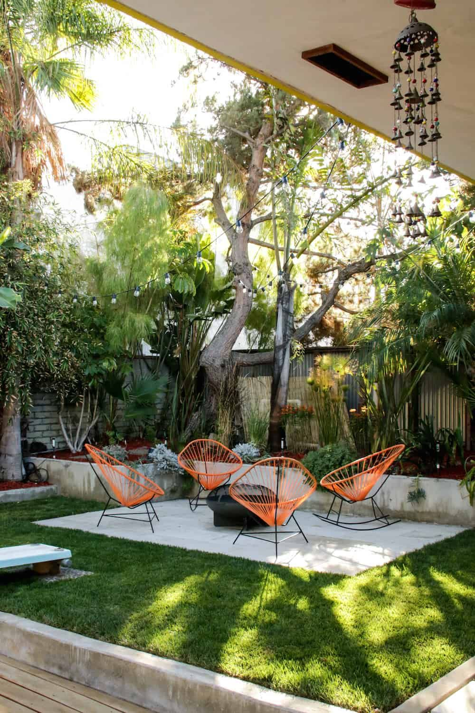 mid century modern patio reveal! | home | backyard patio