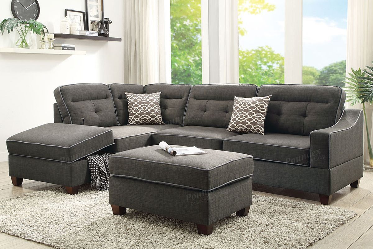 Best F6571 Reversible Chaise Sectional With 2 Pillows 400 x 300