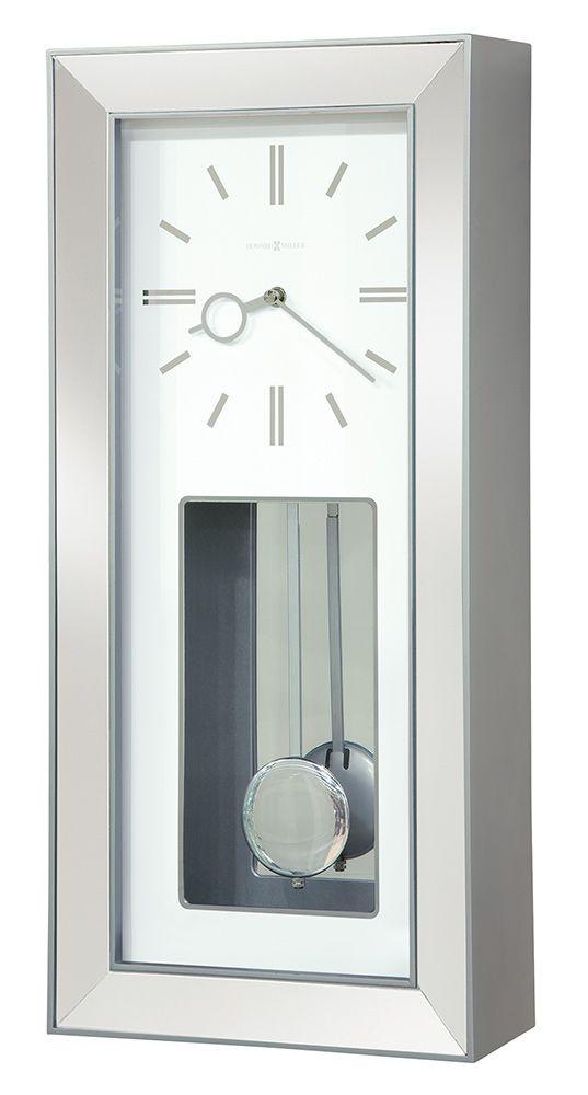 Modern Rectangular Chrome Chiming Pendulum Wall Clock Contemporary Wall Clock Chiming Wall Clocks Wall Clock