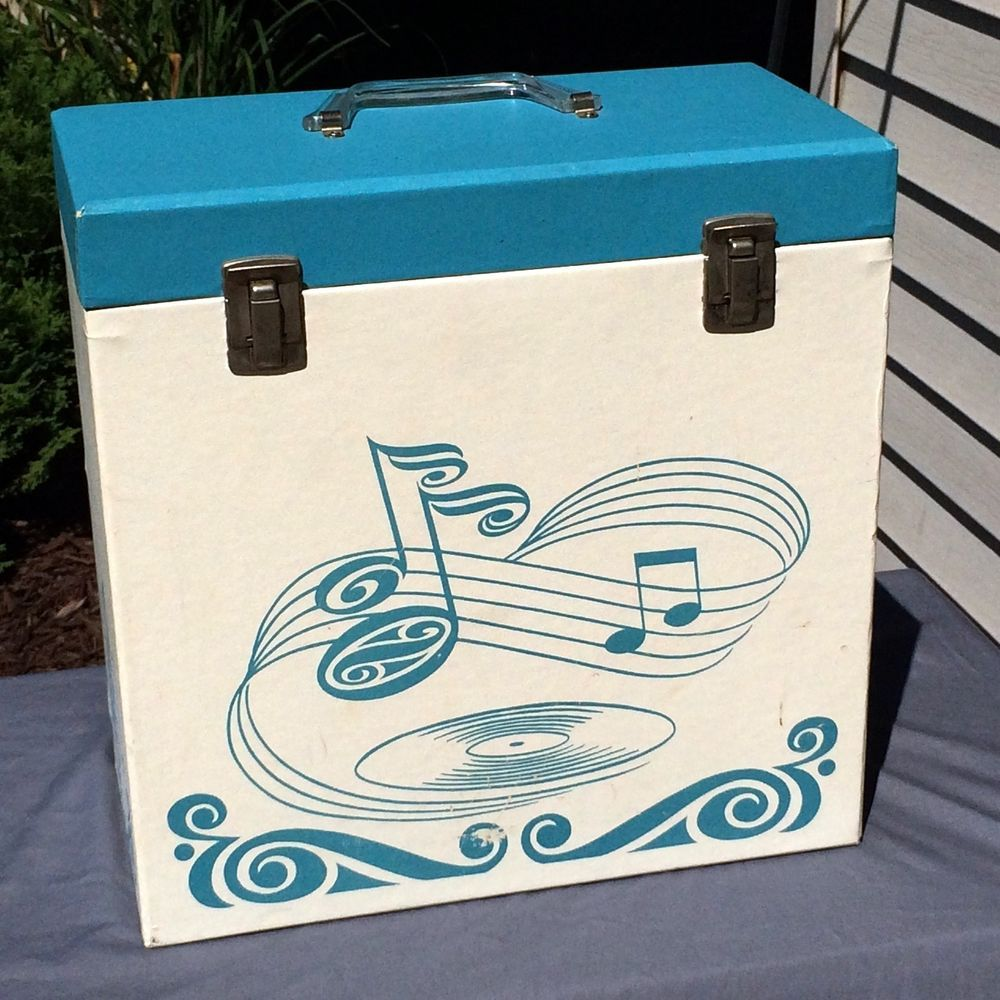 Vintage 50s Platter Pak Dance Rockabilly 12 Vinyl Record Storage Carry Case Box Vinyl Record Storage Music Storage Record Storage