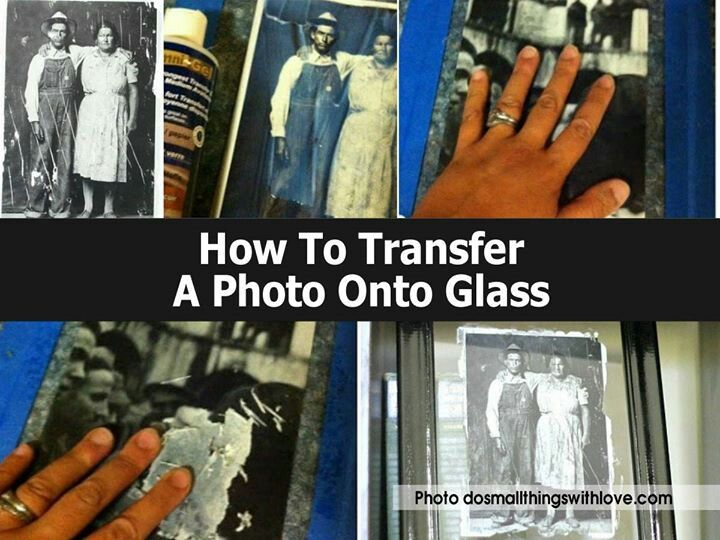 How to transfer pictures to glass